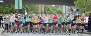 08-06-2014 Potters Arf 2014 Hanley town centre start, action and crowds the big start on Potteries Way