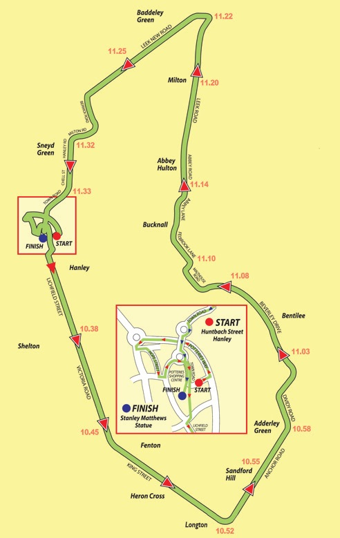 Potters 'Arf Race Route